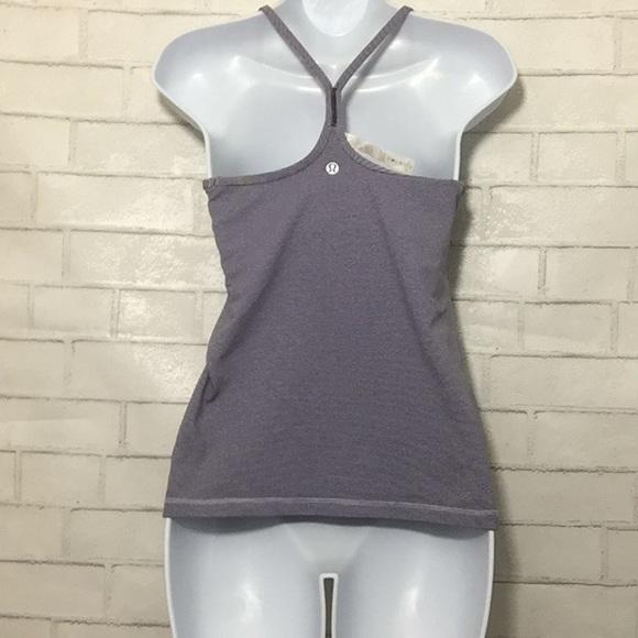 afb159b890b96 lululemon athletica Tops - Lululemon purple tank with padded bra top sz 6